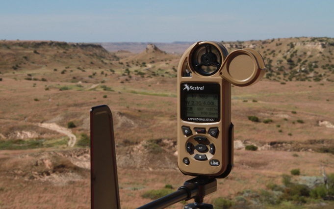 Hunters rangefinder and wind speed station