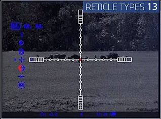 LRF N970 Night Vision Reticles