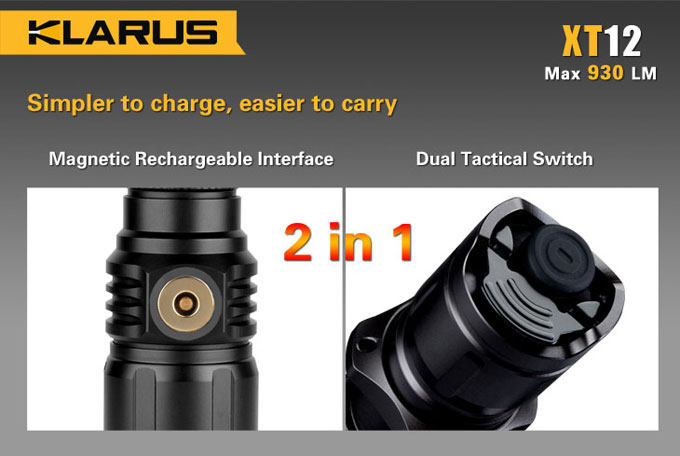 Buy Klarus XT12 Rechargeable Tactical Flashlight