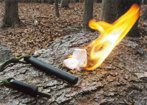 Emergency survival fire starting