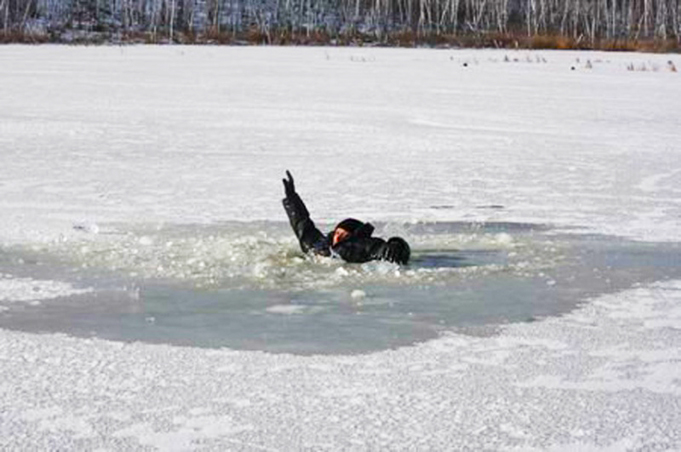 Falling through ice survival