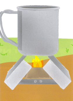 Fuel tablet survival stoves