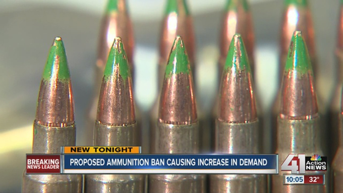 Green tip ammunition may soon be banned in the USA