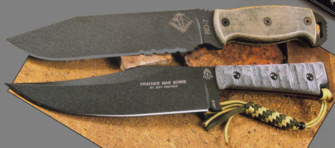 Ontario Knife Company RD7 Review & Prather War Bowie Review