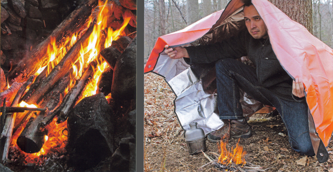 Preppers survival fire starting