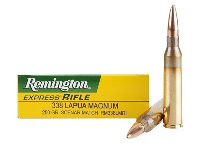 Remington 338 Lapua ammunition