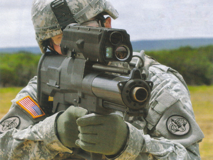 Soldier Shooting XM25 GUN