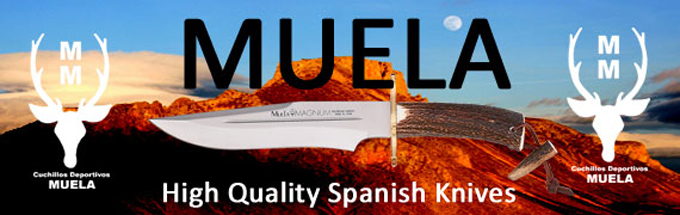 Spanish Muela knives for hunters