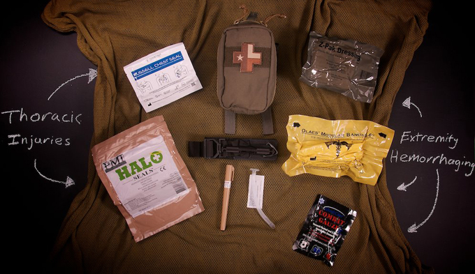 Thoracic fisrt aid-kit